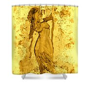 Consultation In Sepia Shower Curtain