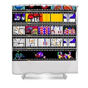 Contact Sheet Shower Curtain