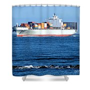Container Ship Shower Curtain