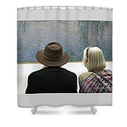 Contemplating Art Shower Curtain