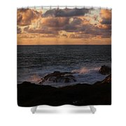 Contemplating In Paradise Shower Curtain