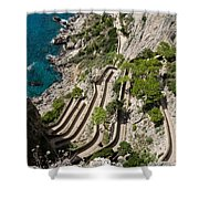 Contemplating Mediterranean Vacations - Via Krupp Capri Island Italy Shower Curtain