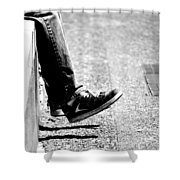 Contemplating Steps Shower Curtain