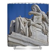 Contemplation Of Justice 1 Shower Curtain