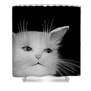 Contemplative Cat   No.4 Shower Curtain