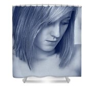 Contemplative Shower Curtain by Amanda Elwell