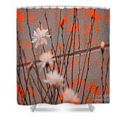 Contemporary Art - Butterfly Kisses - Luther Fine Art Shower Curtain