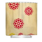 Contemporary Dandelions 1 Part 1 Of 3 Shower Curtain