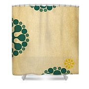 Contemporary Dandelions 1 Part 3 Of 3 Shower Curtain