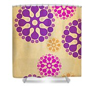 Contemporary Dandelions 2 Part 2 Of 3 Shower Curtain