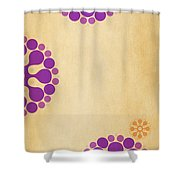 Contemporary Dandelions 2 Part 3 Of 3 Shower Curtain