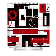 Contemporary Design Shower Curtain