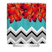 Contemporary Design Shower Curtain