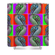 Contemporary Pelicans II Shower Curtain