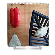 Contemporary Vegetables Shower Curtain