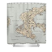 Continent Of Verme Shower Curtain