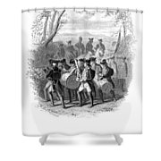 Continental Army Band Shower Curtain