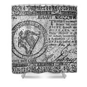 Continental Currency, 1777 Shower Curtain