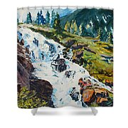 Continental Falls Shower Curtain
