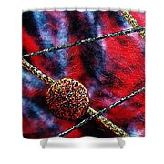 Continuum Iv Red Sky Shower Curtain
