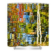 Contorted Clarity Shower Curtain