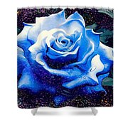 Contorted Rose Shower Curtain