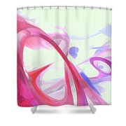 Contortion Pastel Abstract  Shower Curtain