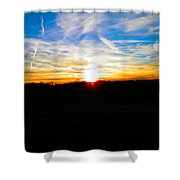 Contrail Sunset Shower Curtain