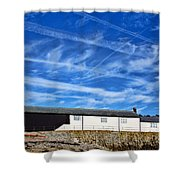 Contrails Over The Cobb Shower Curtain