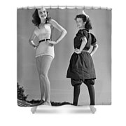 Contrast In Bathing Suit Style Shower Curtain