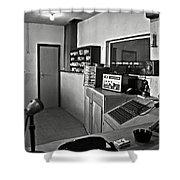 Control Room In Alcatraz Prison Shower Curtain