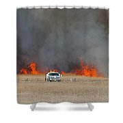 Controlled Burn And Brush Truck Shower Curtain