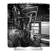 Controls Of Steam Locomotive No. 611 C. 1950 Shower Curtain