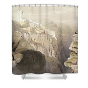 Convent Of St. Saba, April 4th 1839 Shower Curtain