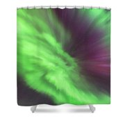 Converging Curtains Of Aurora Shower Curtain