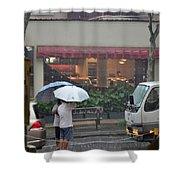 Conversation In The Rain Shower Curtain