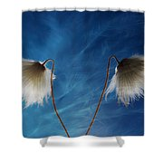 Conversing Wind  Shower Curtain