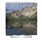 Convict Lake Reflection Shower Curtain