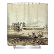 Conway Bridge, Construction Of Second Shower Curtain