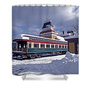Conway Railroad Shower Curtain
