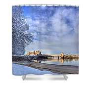 Conwy Castle Snow Shower Curtain
