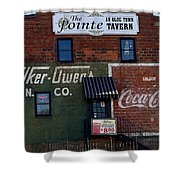 Conyers Advertisements Shower Curtain