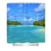 Cook Islands Lagoon Shower Curtain