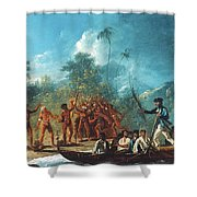 Cook New Hebrides, 1774 Shower Curtain