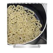 Cooked Macaroni Shower Curtain