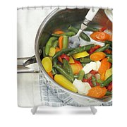 Cooked Mixed Vegetables Shower Curtain