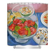 Cookies And Camellias Shower Curtain