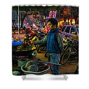 Cooking Dinner Shower Curtain