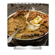 Cooking On A Boat In Shanty Town Shower Curtain