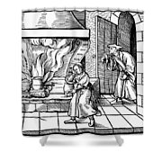 Cooking Roast, C1530 Shower Curtain